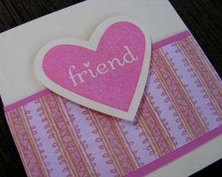 Love note card holder f