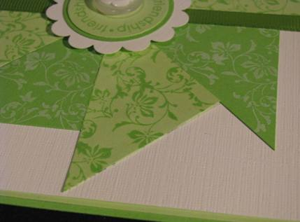 Friendship Pinwheel Quilt block card a