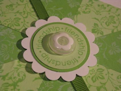 Friendship Pinwheel Quilt block card