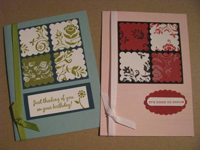 Scallop square cards