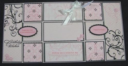 Pretty in Pink Birthday Tri-shutter card