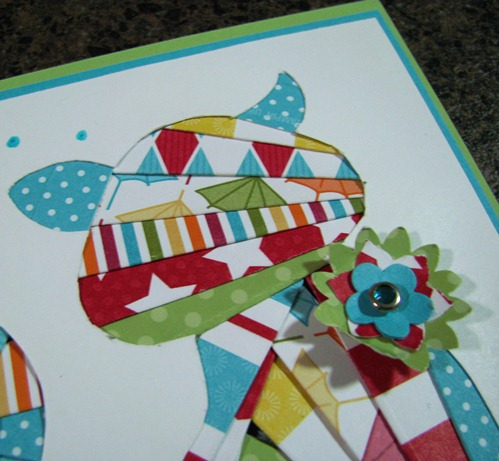 Iris Folding Cat Card2