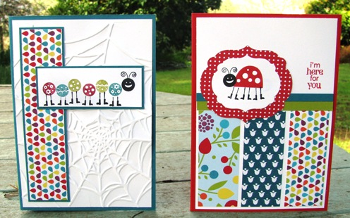 Summer Smooches Bug Me cards