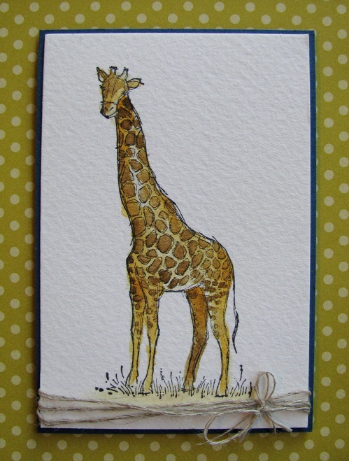 Boy Layout Giraffe Watercolour
