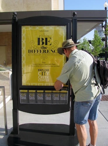 Be The Difference Sign at City Creek Centre