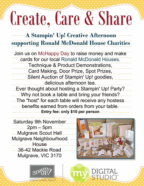 Create Care & Share Stampin' Afternoon