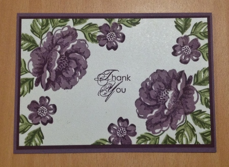 Stipple Blossom Stampin Up card
