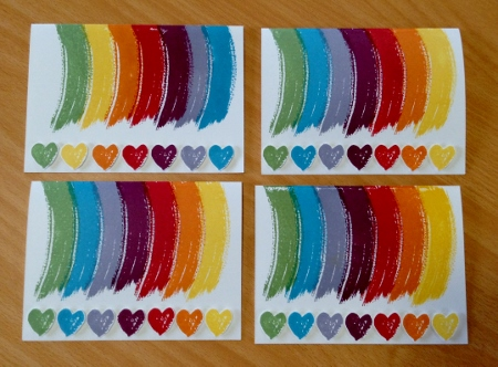 Work of Art Rainbows Stampin Up