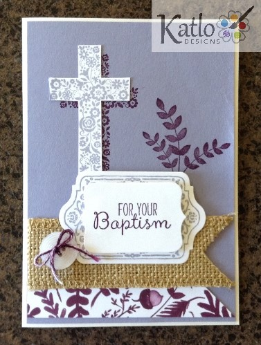 Blessed by God Baptism Card
