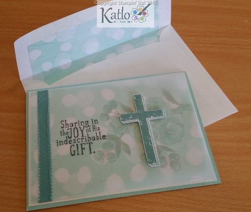 Indescribable Gift & Blessed of God Stamp Set cards (15)