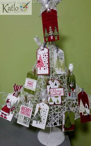 Stampin' Up Christmas Gift Tag Tree (1)
