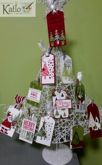 Stampin' Up Christmas Gift Tag Tree (1)