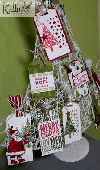 Stampin' Up Christmas Gift Tag Tree (3)