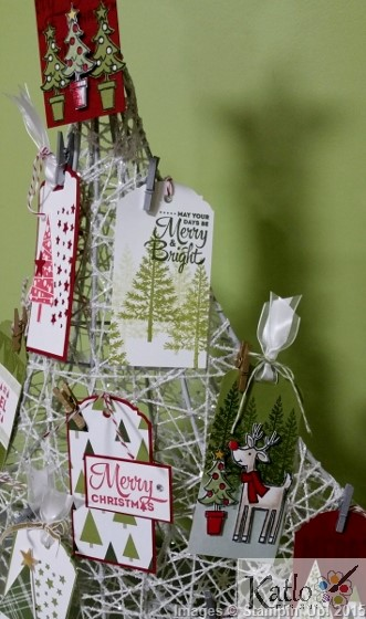 Stampin' Up Christmas Gift Tag Tree (2)