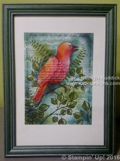 Stampin Up Collage Bird Card (2) (417x560)