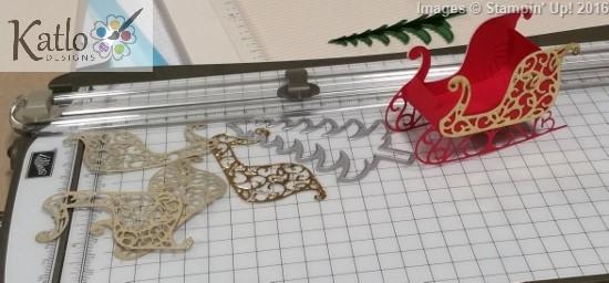 Santa's Sleigh Centrepiece (2)
