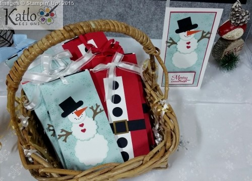 Stampin' Up! Snowman and Santa Chocolate Slider