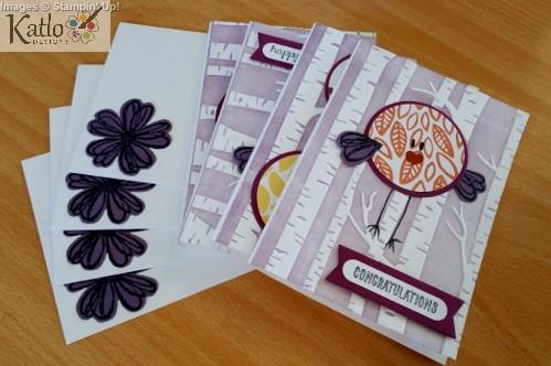 Stampin' Up! Circle Punch Bird Cards (3)