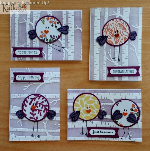 Stampin' Up! Circle Punch Bird Cards (2)