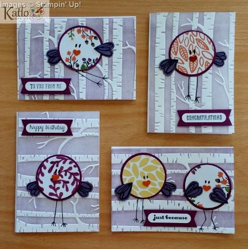 Stampin' Up! Circle Punch Bird Cards (2)
