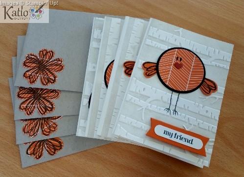 Stampin' Up! Circle Punch Bird Cards (6)