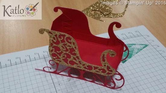Santa's Sleigh Centrepiece (4)