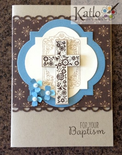 Blessed by God Baptism Card 1