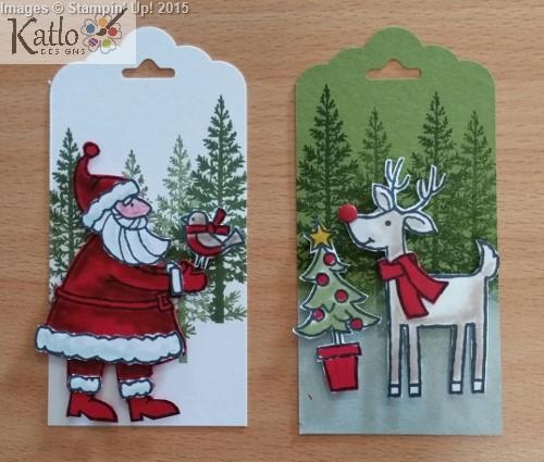 Santa's Gifts Stampin Up Gift Tags