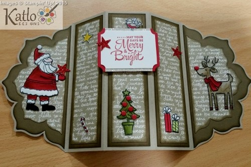 Santa's Gifts - Floral Frames Stampin Up card