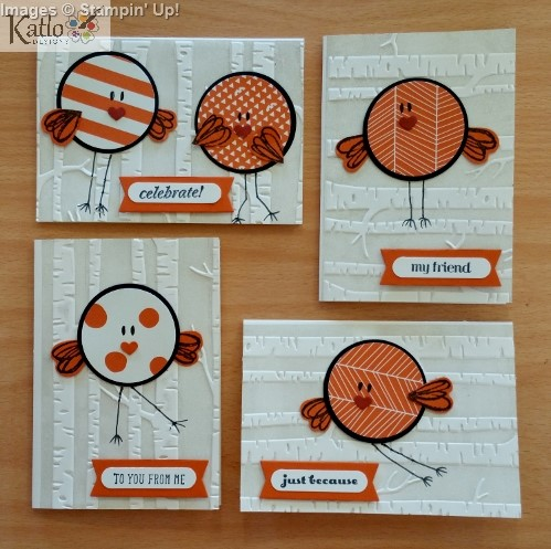 Stampin' Up! Circle Punch Bird Cards (7)