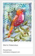Martha Lever Bird in Watercolour Pin