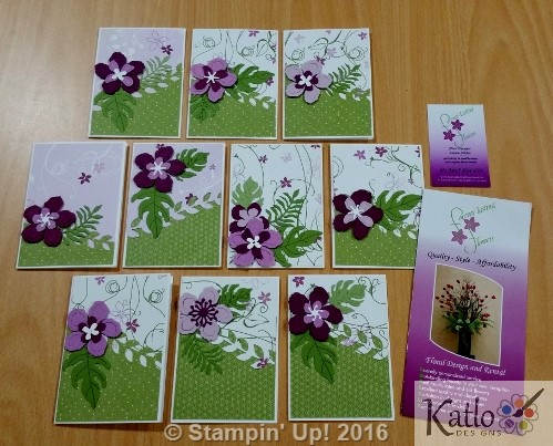 Botanical Blooms Cottage Garden Note Cards (6)