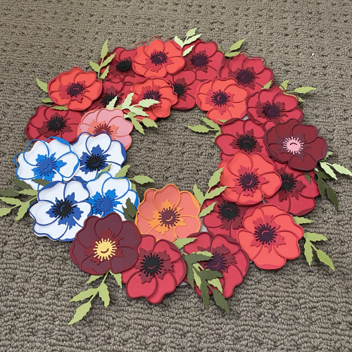 Peadeful Poppies Remembrance Wreath