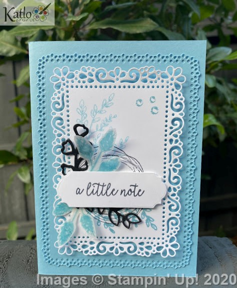 Ornate Layer Dies Balmy Blue cards Stampin Up 2