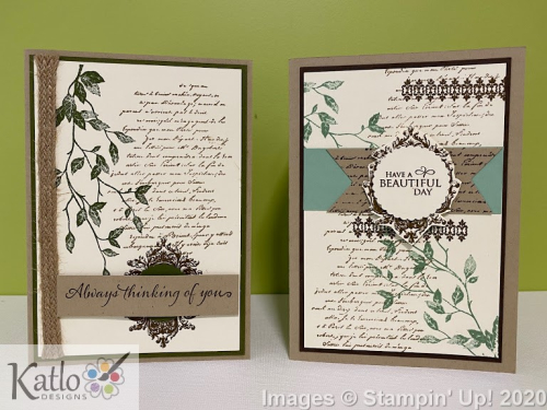 Very Versailles Stampin' Up card