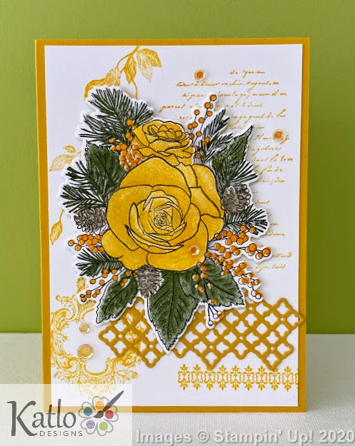 Christmas Rose Stampin' Up Crushed Curry (1)