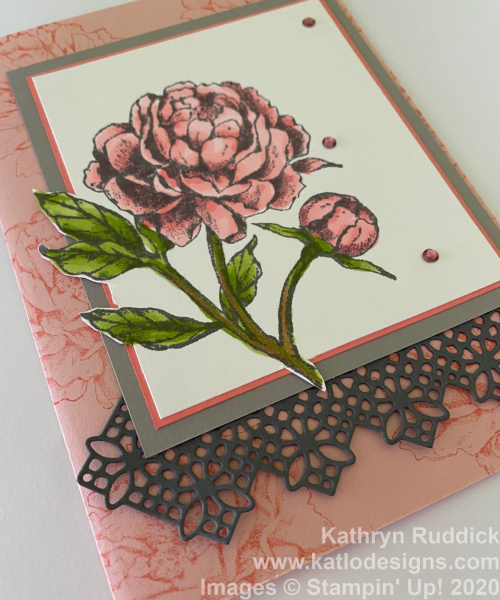 Prize Peony Stampin' Up cards (2)