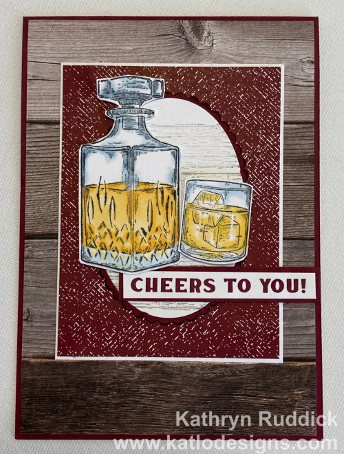 Whiskey Business Stampin' Up! card in Merry Merlot for the Colour Creations Showcase
