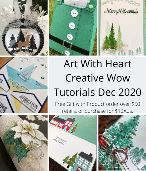 Art With Heart Creative Wow Tutorials Dec 2020