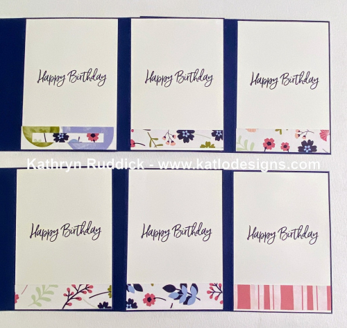 Stampin' Up! Colour Creations Showcase - Night of Navy, Paper Blooms card using Saleabration 2021 paper