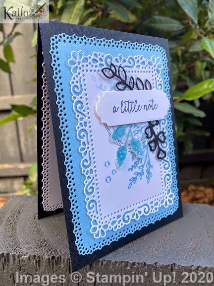 Ornate Layer Dies Balmy Blue cards Stampin Up 4