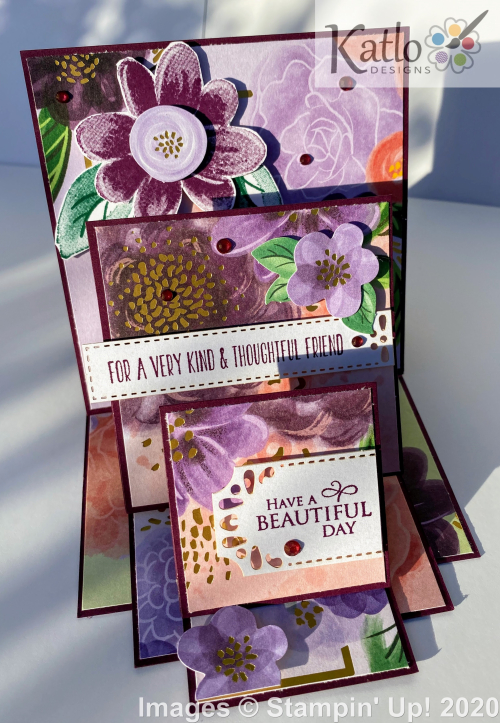 Gorgeous Posies Stampin' Up Triple Easel Card (4)