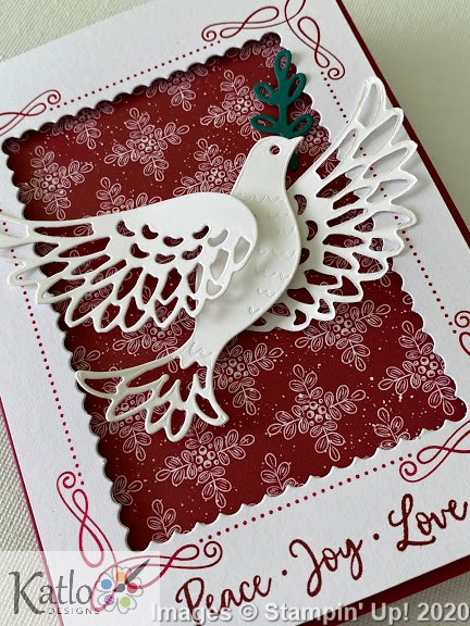 Dove of Hope Stampin' Up! cards (4)