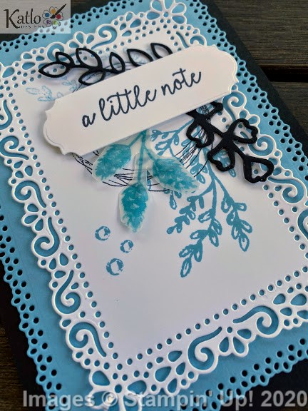 Ornate Layer Dies Balmy Blue cards Stampin Up 1