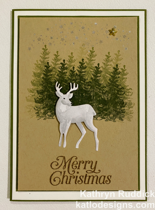 Most Wonderful Time Product Medley Stampin' Up! Christmas card focussing on Mossy Meadow for the AWH Colour Creations Showcase