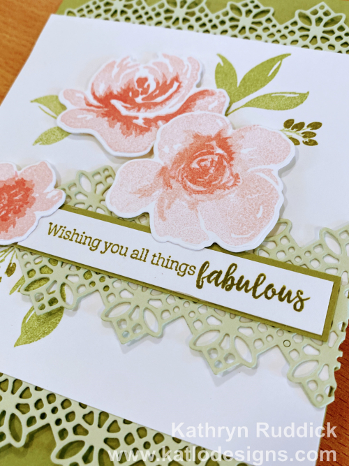 All Things Fabulous Stampin Up card for Colour Creations Showcase