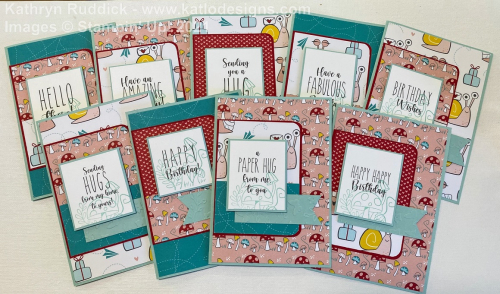 Snail Mail Stampin' Up! cards for the AWH Colour Creations Showcase Pool Party