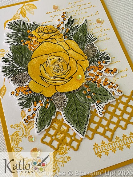 Christmas Rose Stampin' Up Crushed Curry (2)