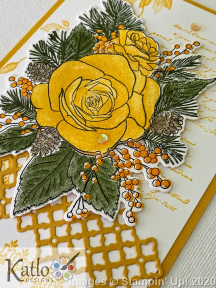 Christmas Rose Stampin' Up Crushed Curry (3)