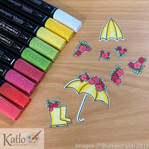 Under My Umbrella Stampin Up card (1)